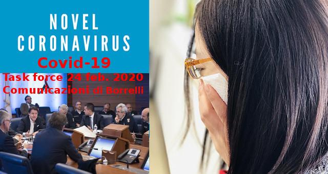 aggiornamento su emergenza Coronavirus del 24 feb 2020