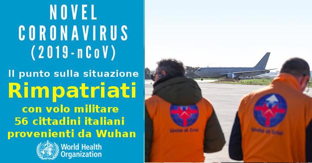 Coronavirus. Arrivo Boeing Aeronautica Militare proveniente da Wuhan con 56 italiani rimpatriati
