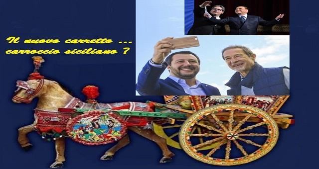 Il presidente dell'Ars Micciché ha donato al leader della Lega Salvini, una statuina di Santa Rosalia