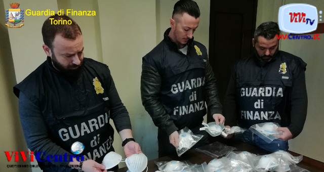 """La GdF, GUARDIA DI FINANZA TORINO """"CORONAVIRUS"""" MASCHERINE A 5.000 EURO"""