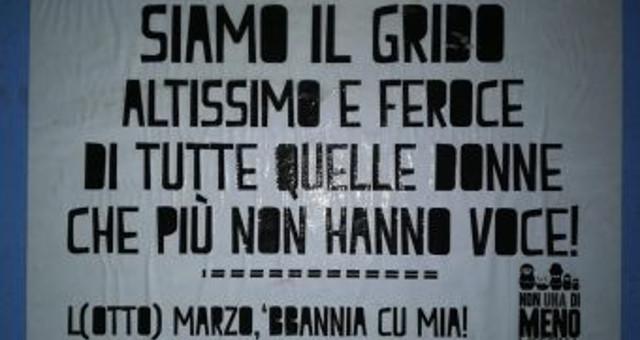 Manifesti a Messina contro la violenza sulle donne