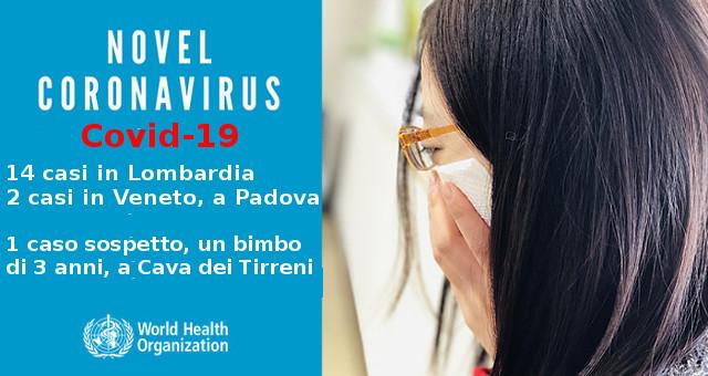 Nuovo Coronavirus COVID19 14 i casi positivi in Lombardia