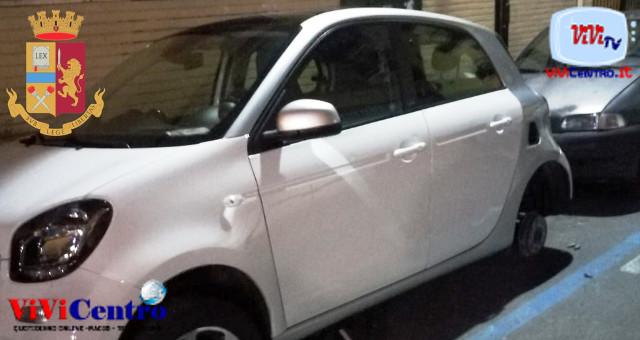 Polizia di Napoli, arrestato ladro di pneumatici