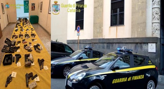 Guardia di Finanza di Catania ha scoperto e sequestrato un arsenale