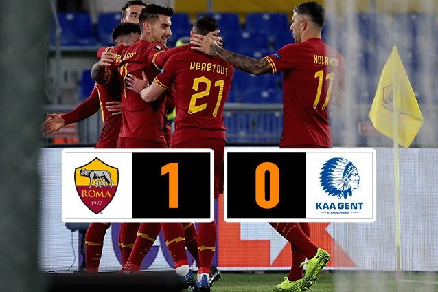Roma Gent Post partita