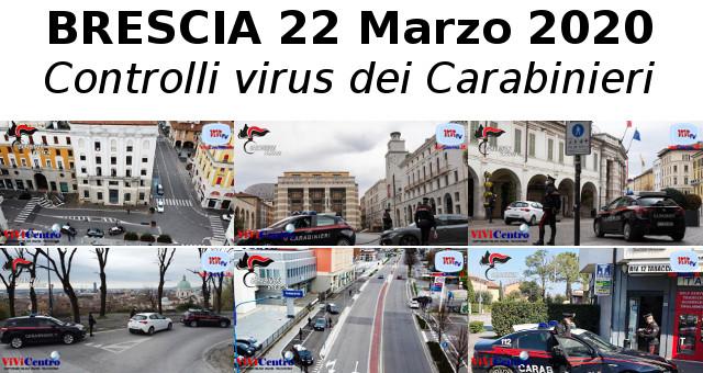 Controlli prescrizioni covid19 del 22 marzo 2020 dei Carabinieri Brescia