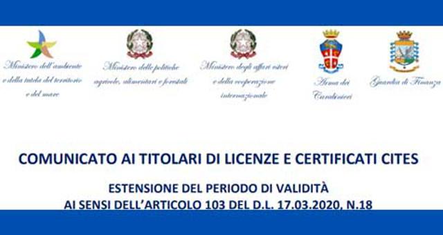 Certificati Cites