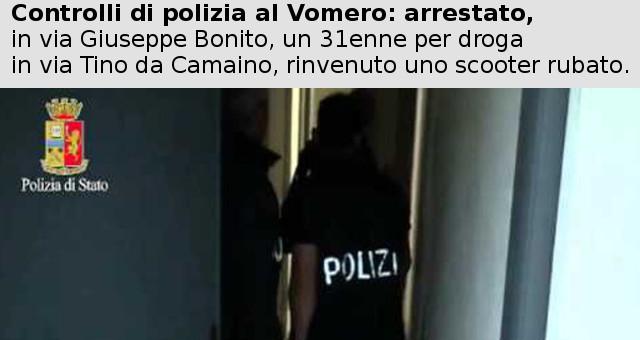 Controlli di polizia al Vomero