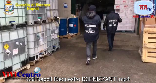 Coronavirus Gdf Napol e Salerno Sequestro IGIENIZZANTI