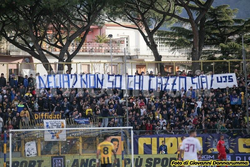 Juve Stabia D'Elia striscione Trapani