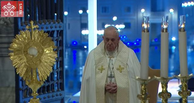 La preghiera del Papa e Benedizione Urbi et Orbi del 270320
