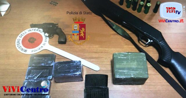 Polizia Cercola, arresti per droga e armi