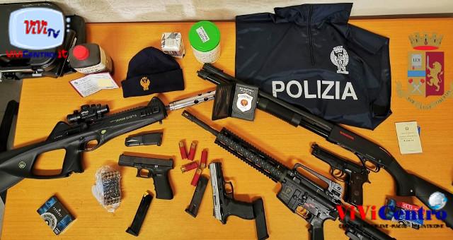 Polizia di Napoli Giugliano, sequestro armi 1