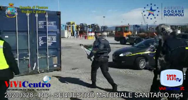 SEQUESTRO MATERIALE SANITARIO