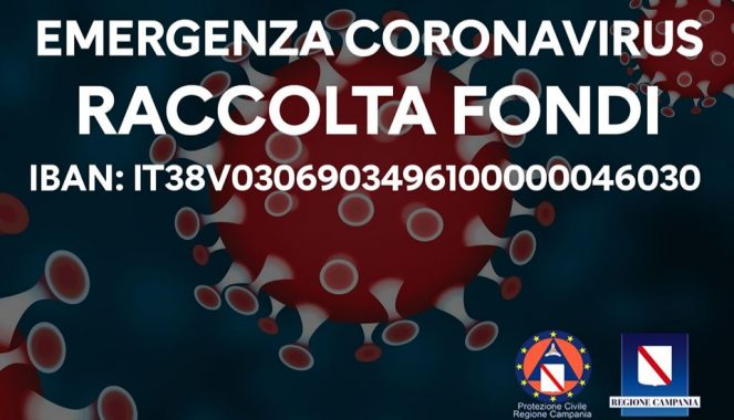 coronavirus raccolta fondi regione campania
