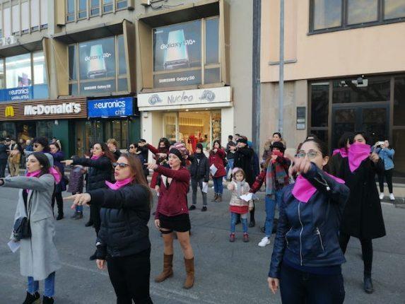 flashmob non una di meno