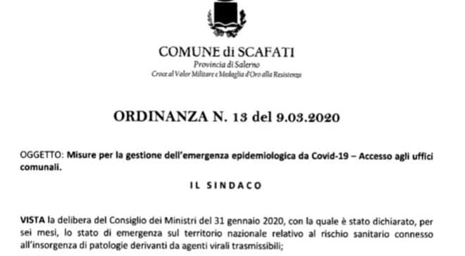 scafati ordinanza misure coronavirus foto free facebook