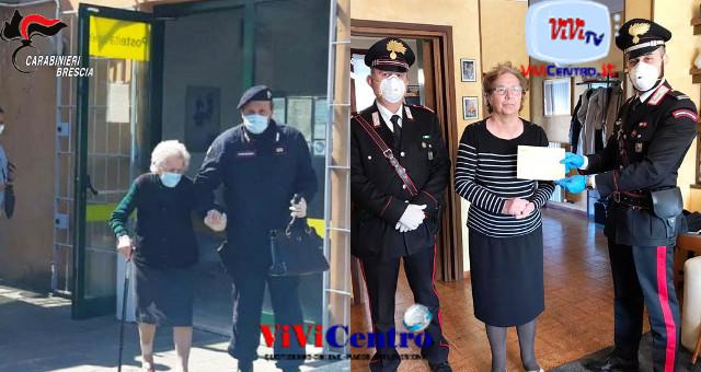 Carabinieri Brescia, consegna pensione ad anziani