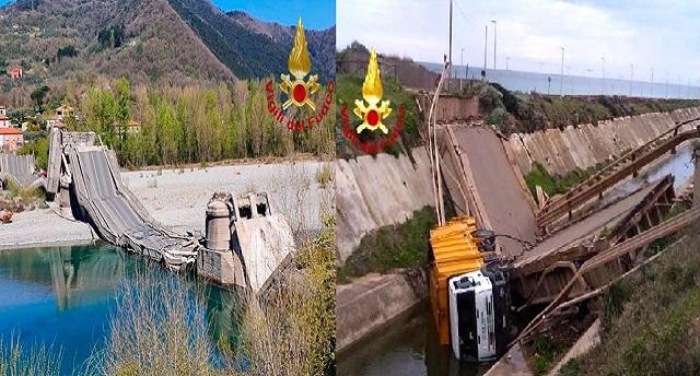 Crollato un ponte anche nel Sulcis