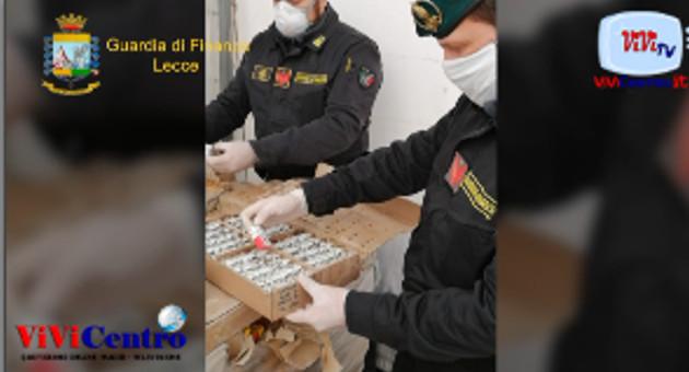 Gdf COMPAGNIE DI LECCE E DI OTRANTO, Sequestro di gel invenduto dal 1989