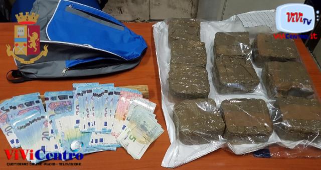 Capodichino: Polizia sanziona e arresta uomo per droga