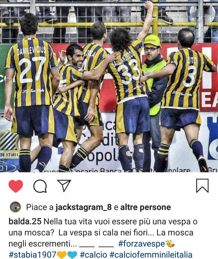 Juve Stabia post Baldanzeddu