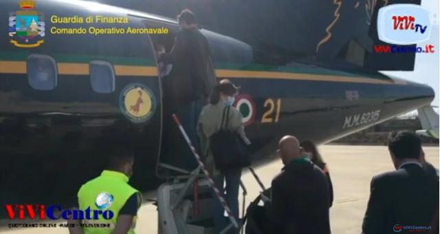 Il servizio aereo della GdF al servizio dell'emergenza Covid-19