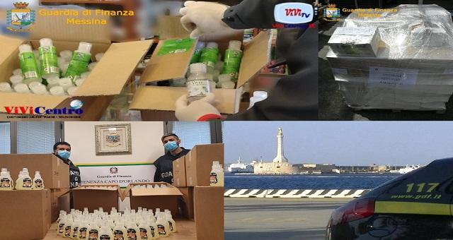 Sequestrati dai reparti territoriali del Comando Provinciale della Guardia di Finanza di Messina