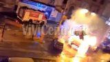 raid incendiario chiosco in fiamme castellammare