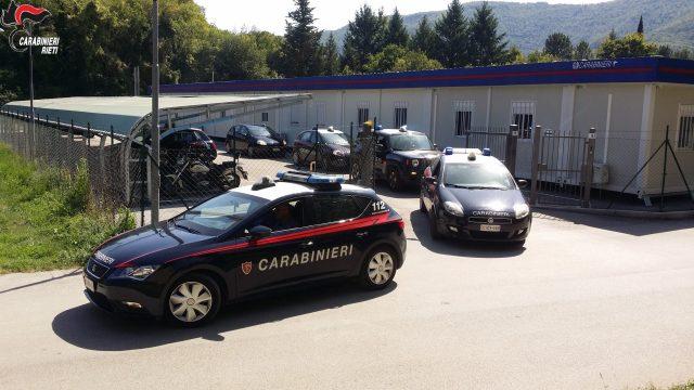 Carabinieri Rieti- Arresto prostituzione per furto di automezzi e mascherine