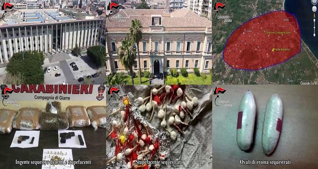 Operazione del Comando provinciale Carabinieri di Catania e Giarre
