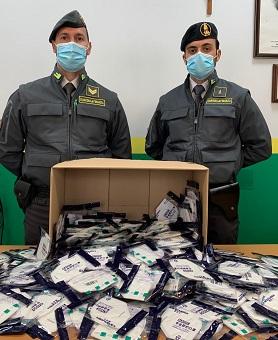 Sequestrate ancora mascherine dalla Guardia di Finanza