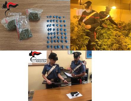 stupefacenti in frigo, coltivava marijuana, deteneva in casa pistola e fucili