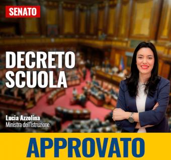 Decreto Scuola approvato al Senato, sarà legge entro il 7 giugno