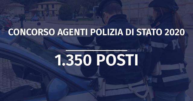 concorso-polizia-di-stato-2020-1350-allievi-agenti-
