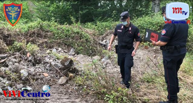 Carabinieri Forestale Caserta frazione Garzano, sequestro terreno agricolo