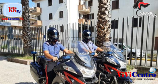 Carabinieri motociclisti Corigliano Calabro, controllo, arrestato coriglianese