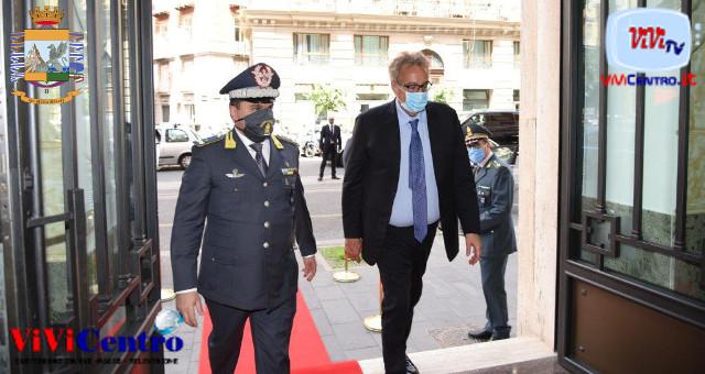 Guardia di Finanza visita del Prefetto al Comando Provinciale della GdF