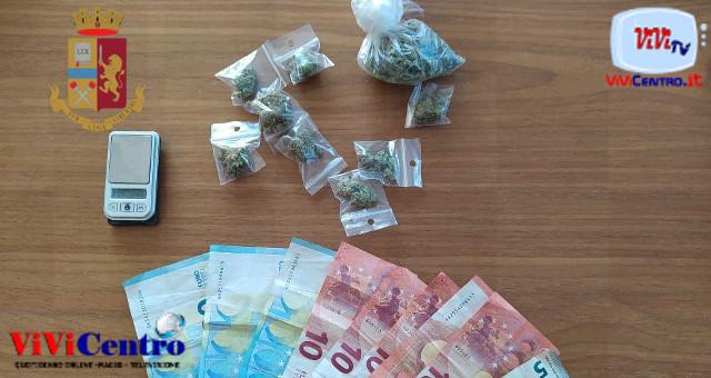 Polizia: arresto per droga e una denuncia per ricettazione