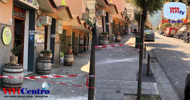 Cadono calcinacci dal balcone in via De Gasperi nessun ferito