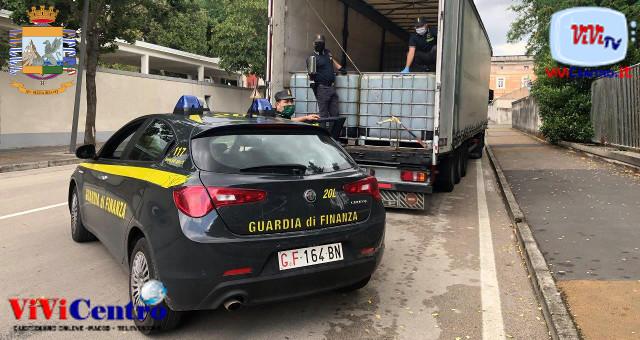 Sequestrato autoarticolato con 24 ton di gasolio di contrabbando