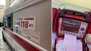napoli ambulanza scassinata foto free consigliere borrelli