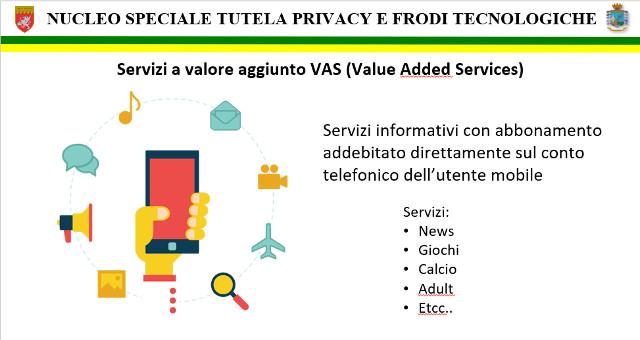 Attivazione fraudolenta di servizi a pagamento su WIND3, VODAFONE, TIM