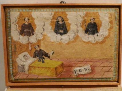 Dipinto olio su tavola Santuario Madonna del Soccorso, Ischia (NA)