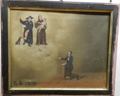 Dipinto olio su tela Santuario di San Rocco, Tolve (PZ)