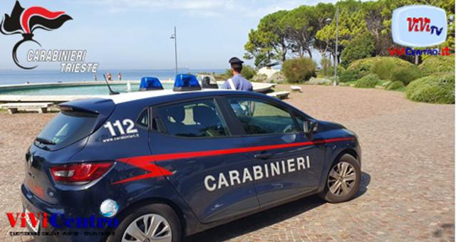 Pineta di Barcola (TS), Uomo nudo e ubriaco arrestato dai Carabinieri