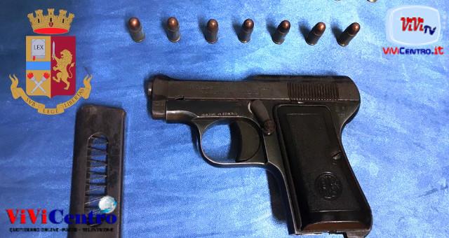 Operazione alto impatto della Polizia, Pistola con proiettili