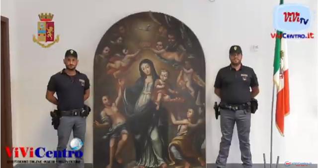 La Polizia di Stato riconsegna alla Diocesi