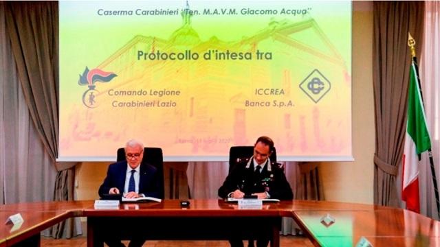 Protocollo d'intesa tra Arma Carabinieri e Iccrea Banca
