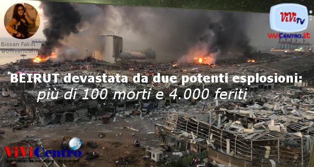 BEIRUT devastata da due potenti esplosioni